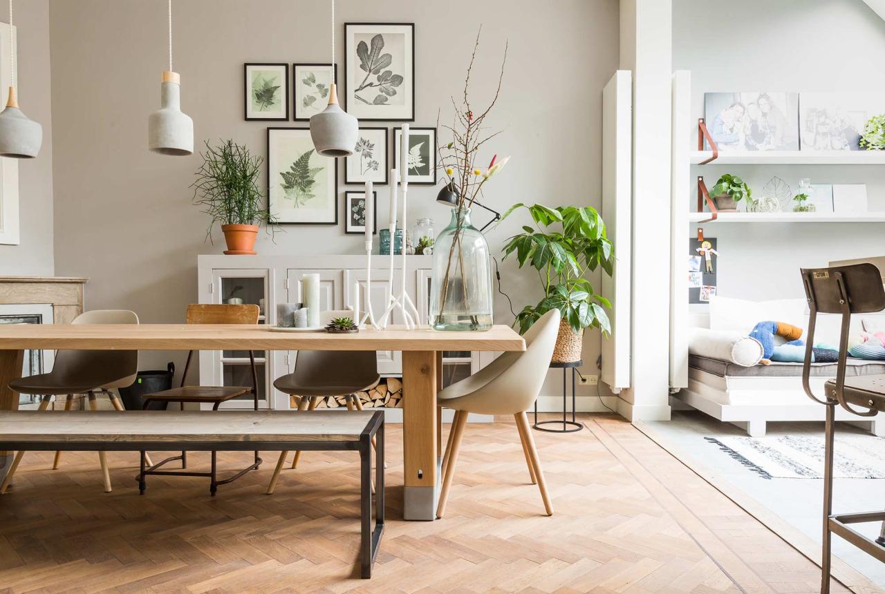 A dreamy Scandinavian dinning  living area  Daily Dream