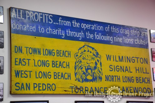 Original Lions Dragstrip Sign