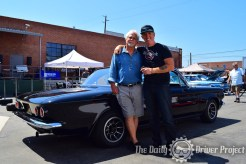 Tony Dow & Fireball with Tony's Corvair