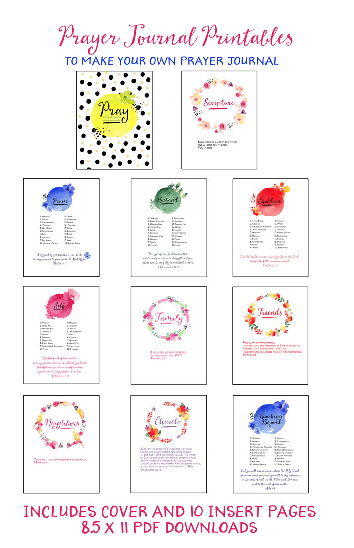 Prayer Journal Printables Updated