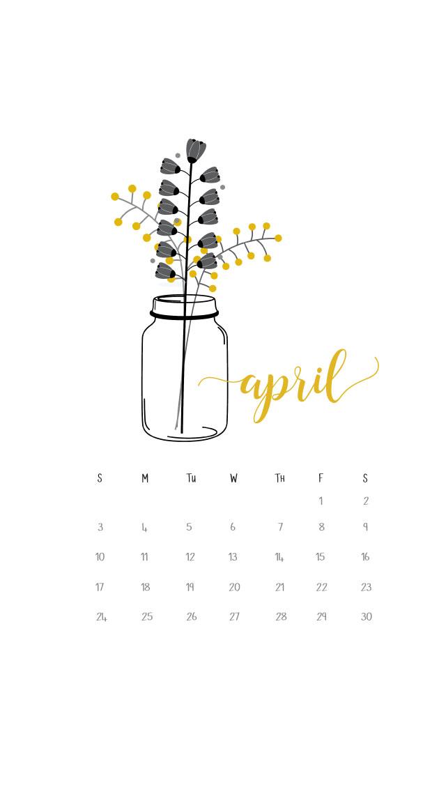 April 2016 Calendar Printables and Freebies