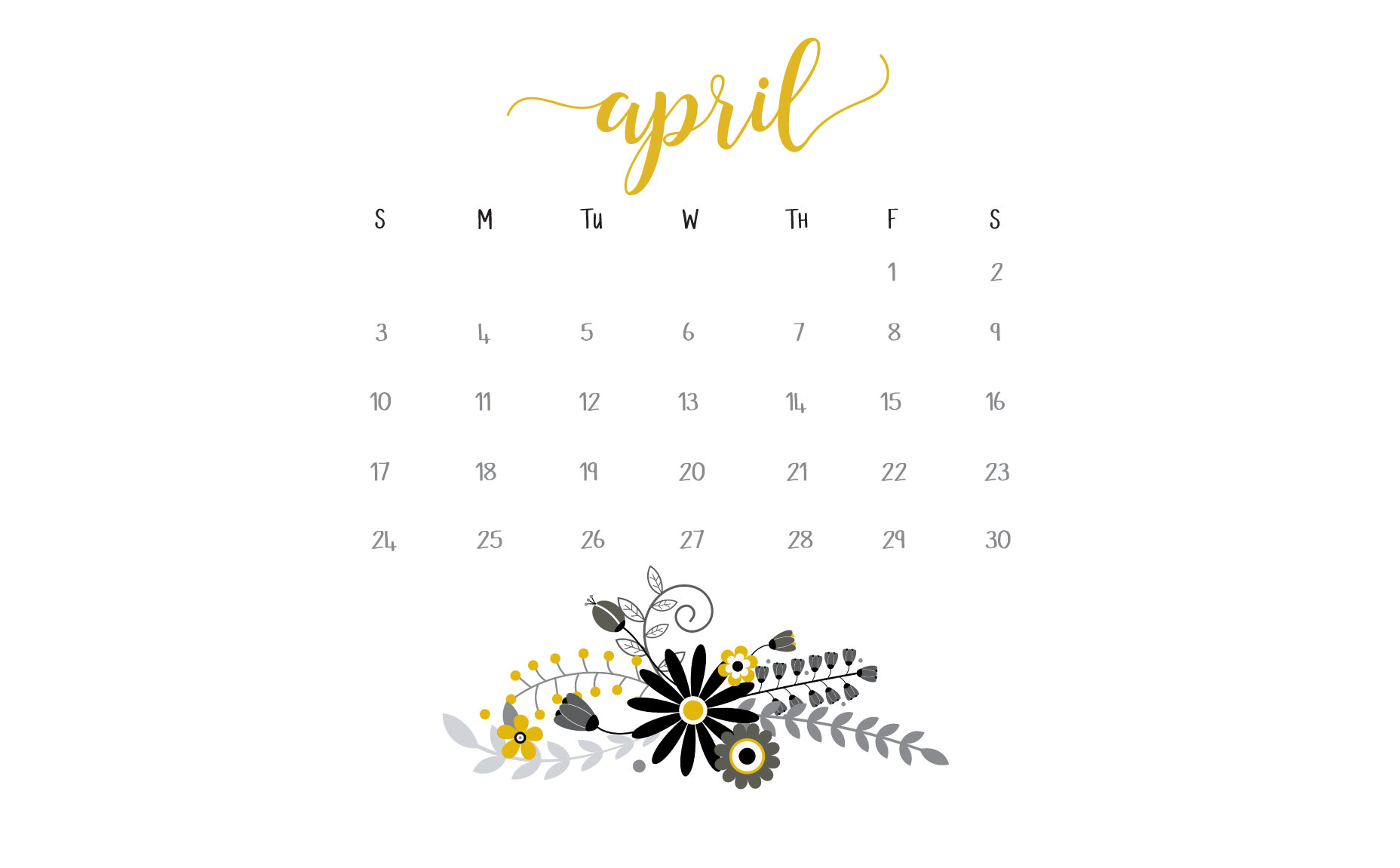 April Calendar Printables And Freebies