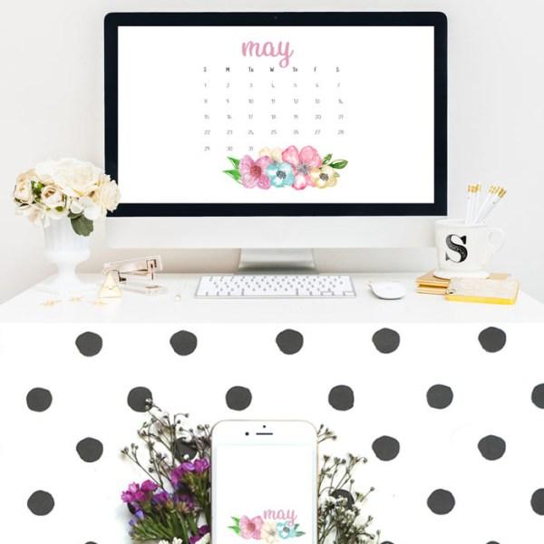May 2016 Calendar Printables and Tech Pretties