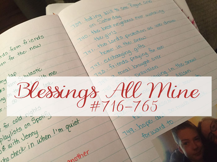 Blessings All Mine #716-765