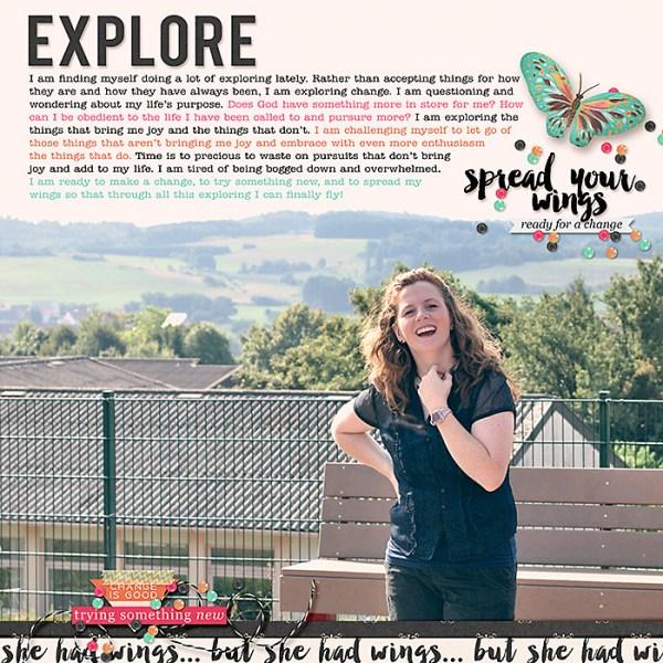 Explore | Digital Scrapbooking Layout
