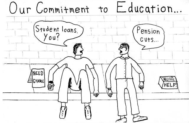 Cartoon: Commitment to education
