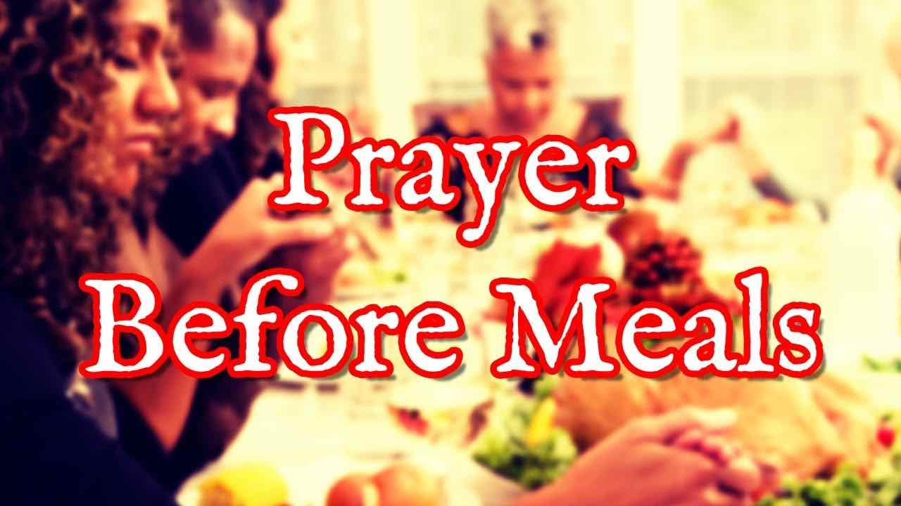 prayer before a meal