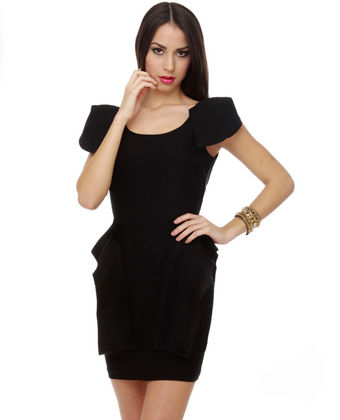 Lulus peplum dress