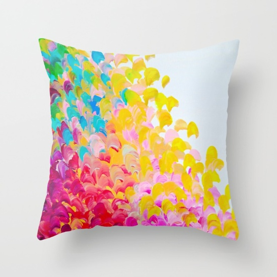 abstract colored throw pillow