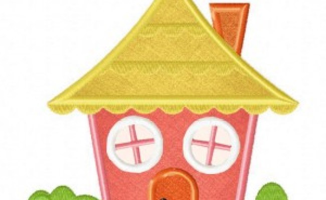 Cute Tiny House Includes Both Applique And Stitched