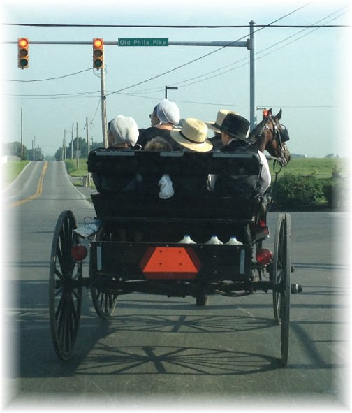 Amish family on way to church 7/12/15
