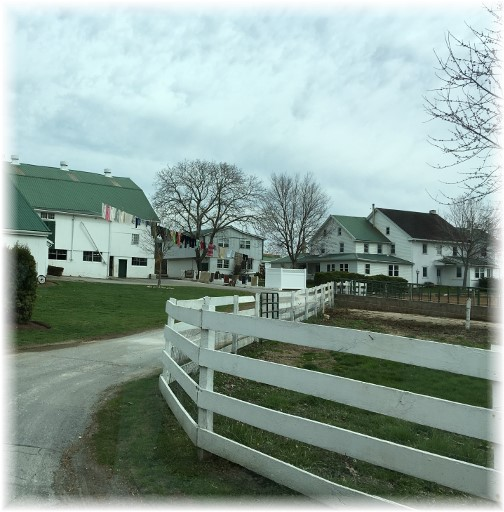 Amish farm with clothesline 3/23/16