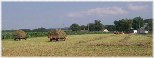 Amish hay harvest on Kraybill Church Road 7/26/12