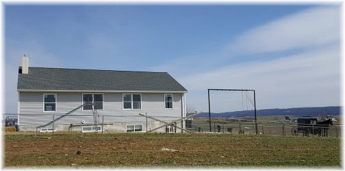 New Amish school after tornado rebuild near White Horse, PA 3/3/16 (Click to enlarge)