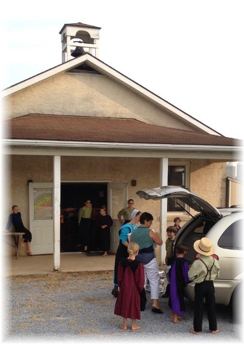 One room Amish schoolhouse exterior 9/2/15