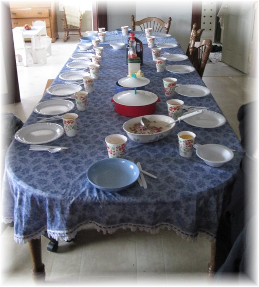 Amish breakfast table, NY 3/22/14