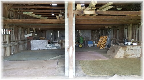 Barn interior cleaned out for church service 7/15/17