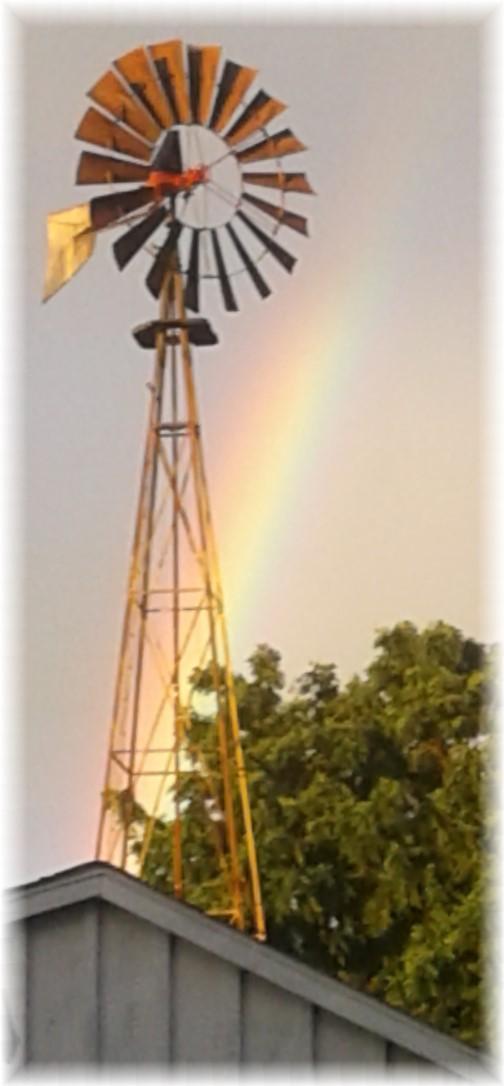 Old Windmill Farm rainbow, Lancaster County, PA 6/7/18 (Photo by Jesse Lapp)