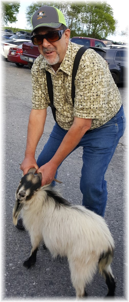 Stephen with billy goat 4/28/17