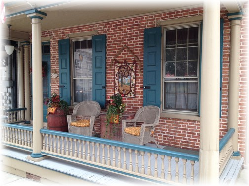 Mount Joy, PA autumn porch 9/28/15