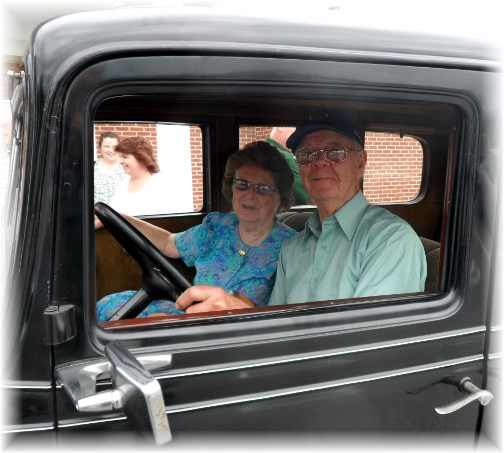 Raymond and Miriam in his 1932 Chevrolet (June 2013)