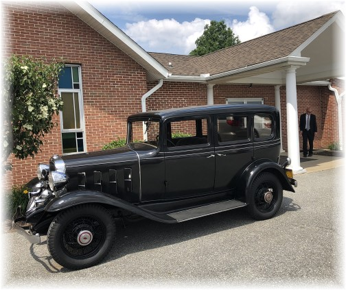 Raymond's 1932 Chevrolet at his funeral 6/2/18