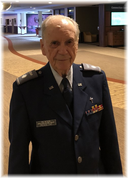 91 year old Civil Air Patrol chaplain 5/18/18