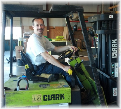 Keith on Clark forklift 7/5/13
