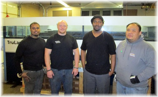 Smucker laser crew 3/14/14