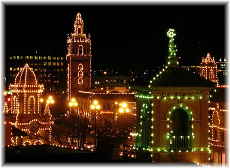 Christmas lights on Plaza in Kansas City Missouri