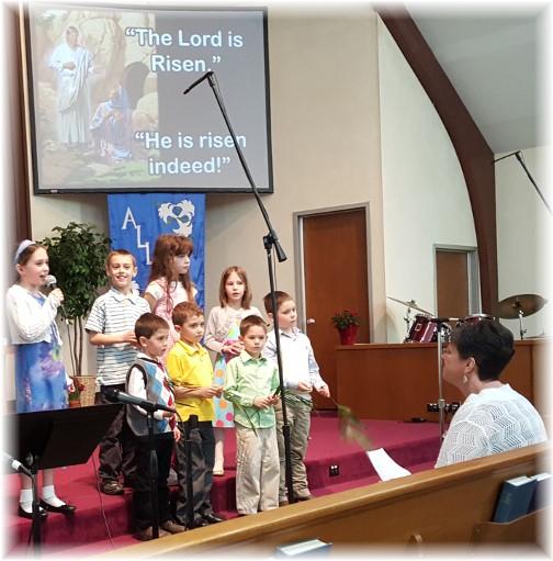 Easter children's recitation 3/27/16