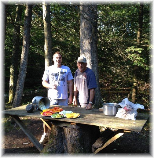 Men and boys campout 9/6/14