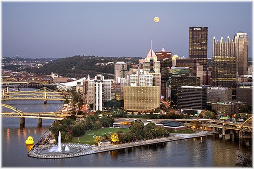 Pittsburgh skyline (photo by Howard Blichfeldt)