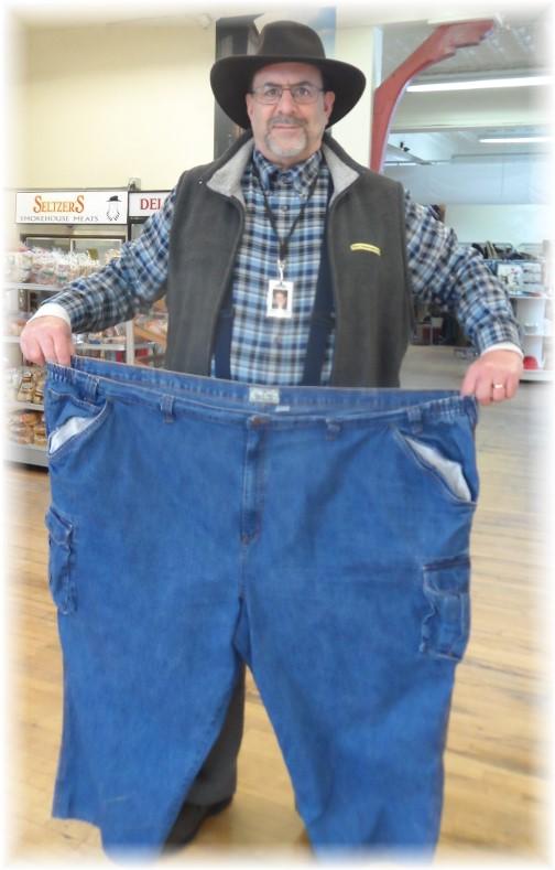 Big pants at thrift store 2/4/14
