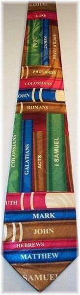 Books of Bible necktie