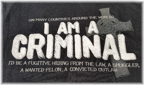 I am a criminal t-shirt front