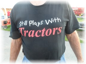 Tractor t-shirt at Etown fair 8/22/13