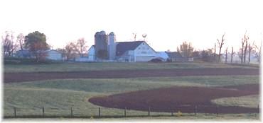 Spring agricultural scene
