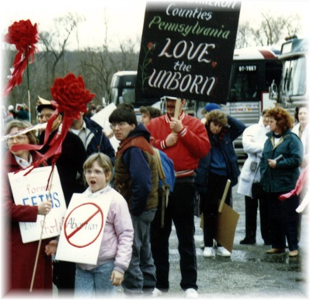 Washington pro-life March in 1990