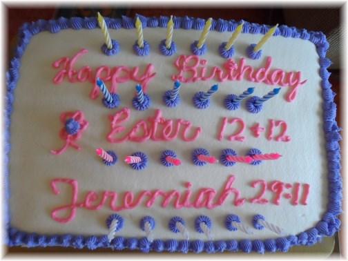 Ester's 24th birthday cake 3/10/13