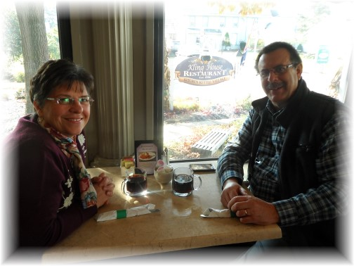 Breakfast at Kling House Restaurant, Intercourse PA 10/25/13