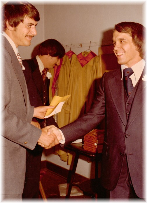 David Simpson, best man 5/8/76