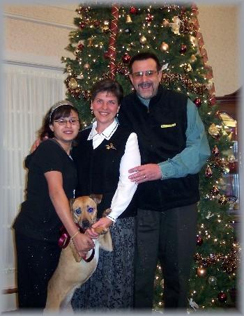 Longwood Manor family Christmas photo