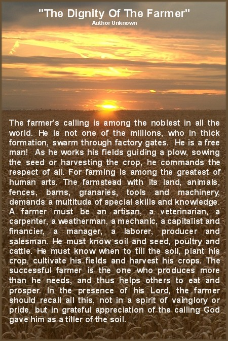 The Hardworking Farmer Daily Encouragement