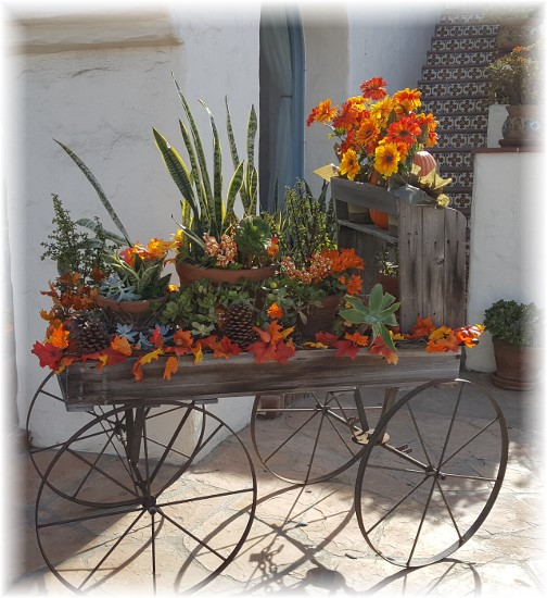 Old Town San Diego flower cart 10/16/16