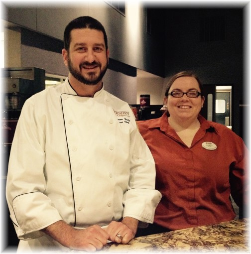 Hershey Grill chef and server 1/8/15