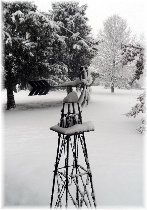 Home windmill in snow 2/3/14