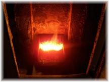 Coal stove interior