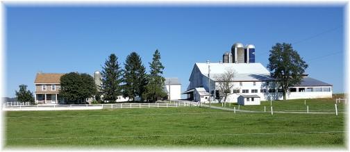 Mennonite farm on Cabin Road near Farmersville, PA 10/19/17 (Click to enlarge)