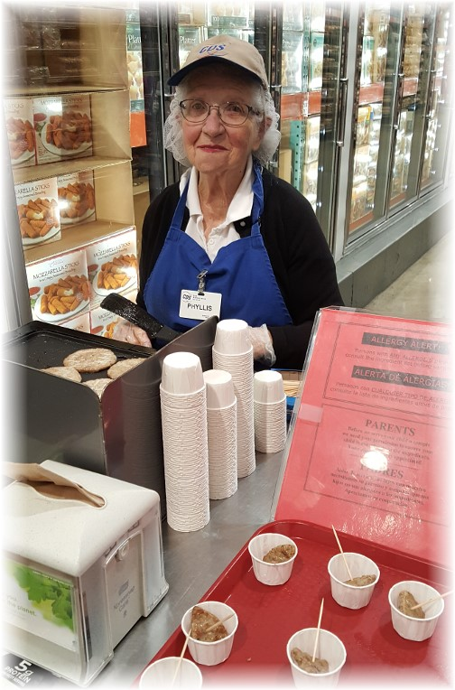 Phyllis, Costco 91 year old sample lady 11/17/16